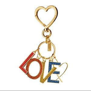 VICTORIA'S SECRET Rainbow Love Charm Keychain NEW